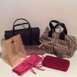 Lot of 6 Cosmetic/Jewelry Bags